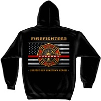 Eagle & Flag Firefighter Hoodie