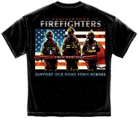 Support Our Firefighters Tee Shirt