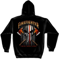 First in Last Out Firefighter Hoodie