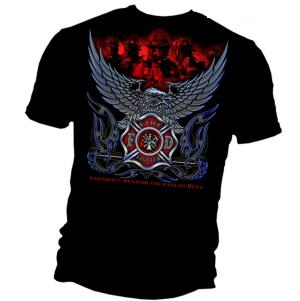 Firefighter Eagle T Shirt