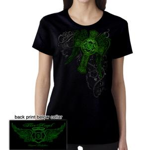 Fire Angel Irish Cross T Shirt