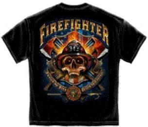Firefighter Driven by Courage Tee Shirt