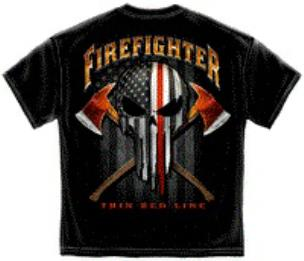 Firefighter Crossed Axes Tee Shirt