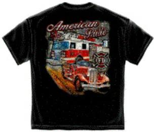 American Pride Firefighter Tee Shirt