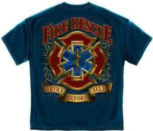 Fire Rescue Traditional T Shirt