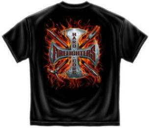 Hard Core Firefighter T Shirt